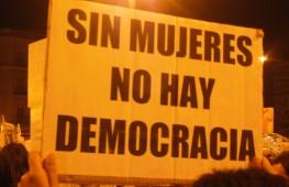 sin mujeres no hay democracia