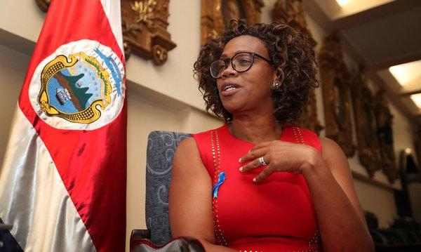 Epsy Campbell: la primera mujer vicepresidenta afrodescendiente de un país de América Latina. Foto: Graciela Solis