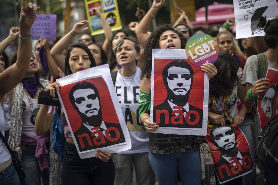 Manifestação no Rio de Janeiro. Foto: Mauro Pimentel/AFP