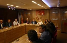 Presidentes nacionais dos partidos progressistas se reuniram em Brasília. Foto: Humberto Pradera