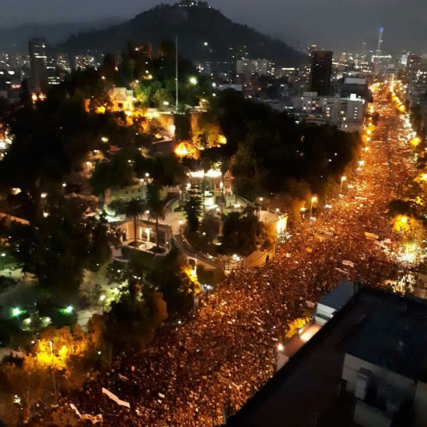 Manifestación convocada por el Partido Socialista de Chile