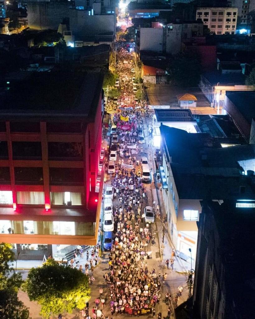 Mujeres en las calles por sus derechos en Paraguay