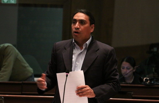 Virgilio Hernández,  ex-Asambleísta Constituyente. Foto: Asamblea Nacional del Ecuador