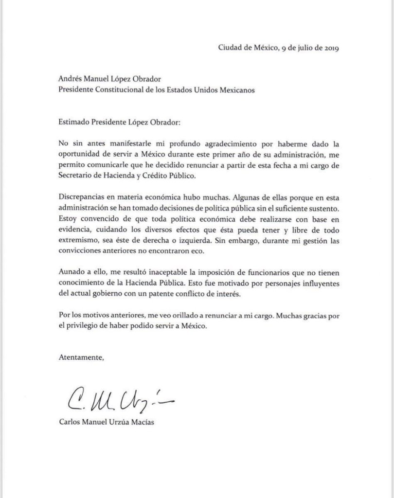 Documento_Renuncia_Secretaria de Hacienda_AMLO