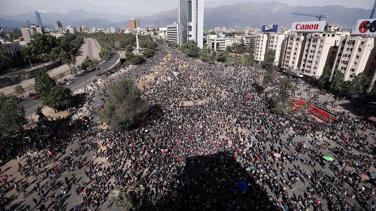La movilización de este martes. Foto: EFE