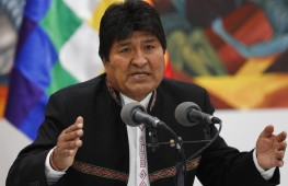 Evo Morales durante la conferencia de prensa. Foto: AP