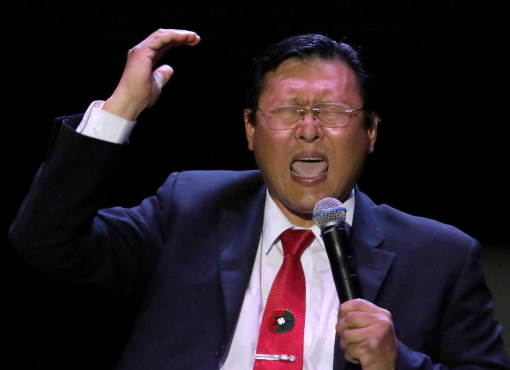 El candidato Chi Hyun Chung. Foto: David Mercado/Reuters