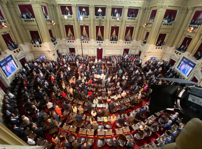 La ceremonia de traspaso de mando en el Congreso. Foto: Juan Manuel Foglia